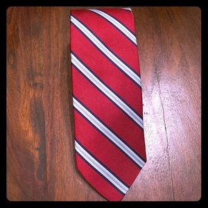 Stafford Tie 100% Silk - Red & blue